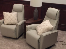 Stressless Chairs in Theater Room