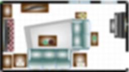 how to set up a narrow room