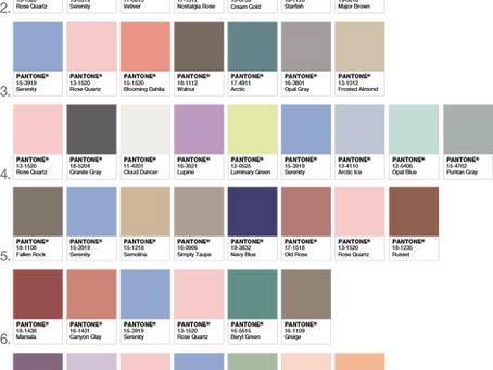 Pantone's Colors of 2016