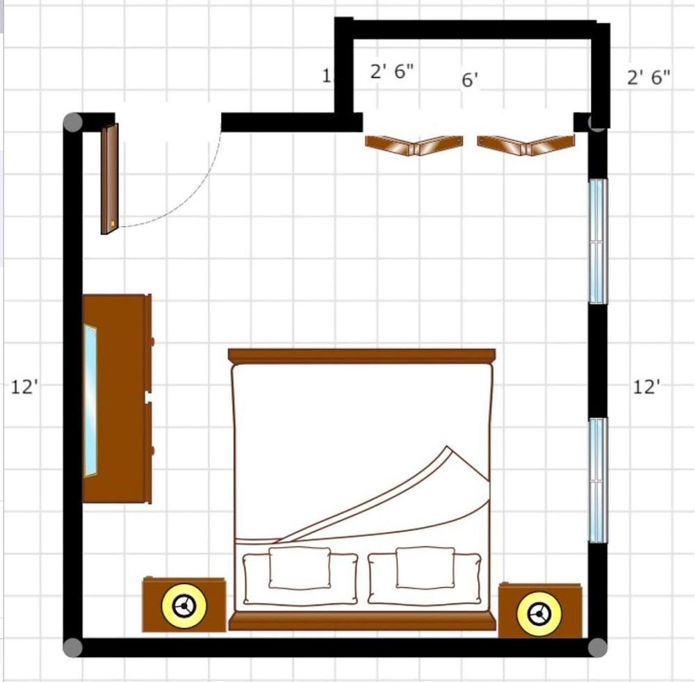 Bedroom Room Plan for the right size Mattress