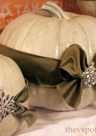 Fall Table Decorations with White