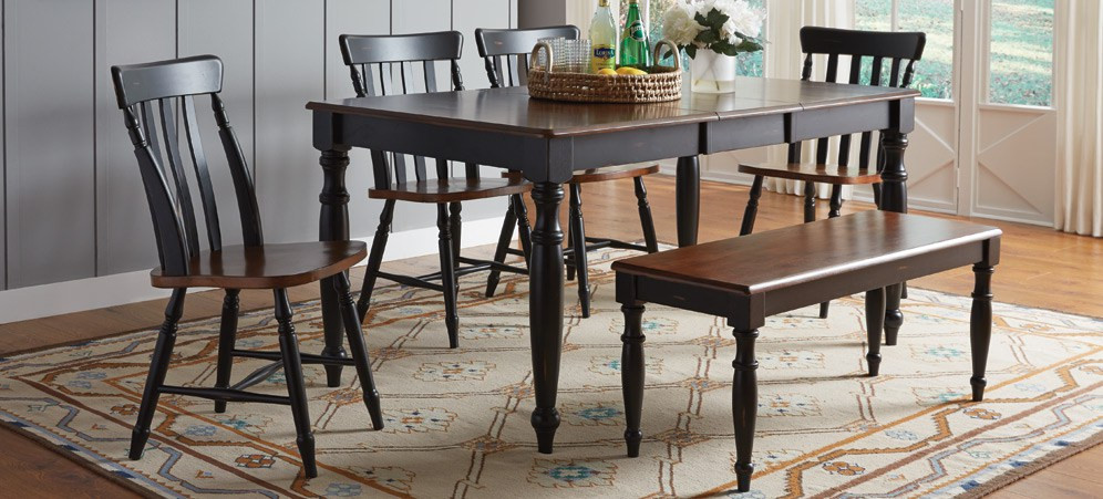 Farmhouse look table set from Tri City Furniture