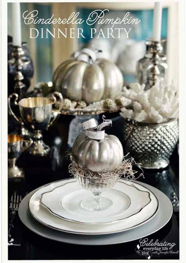 Fancy Thanksgiving Table decorations