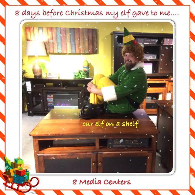 Buddy the elf watching TV