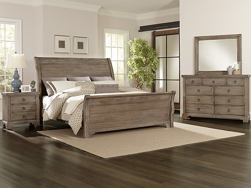 Whiskey Barrel Sleigh Bed (Queen)