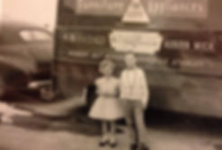 Photo of Kathy KIlbourn as a child at TriCity Furniture in Auburn