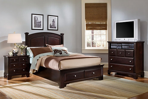 Hamilton Panel Bed w/ Storage (King)