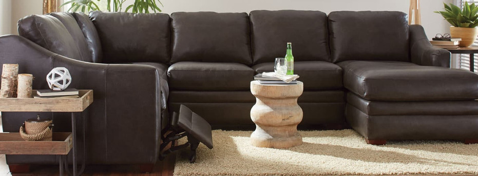 Leather Reclining Sofa or Sectional