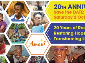 Amani 20th celebration: 2nd Oct 2021