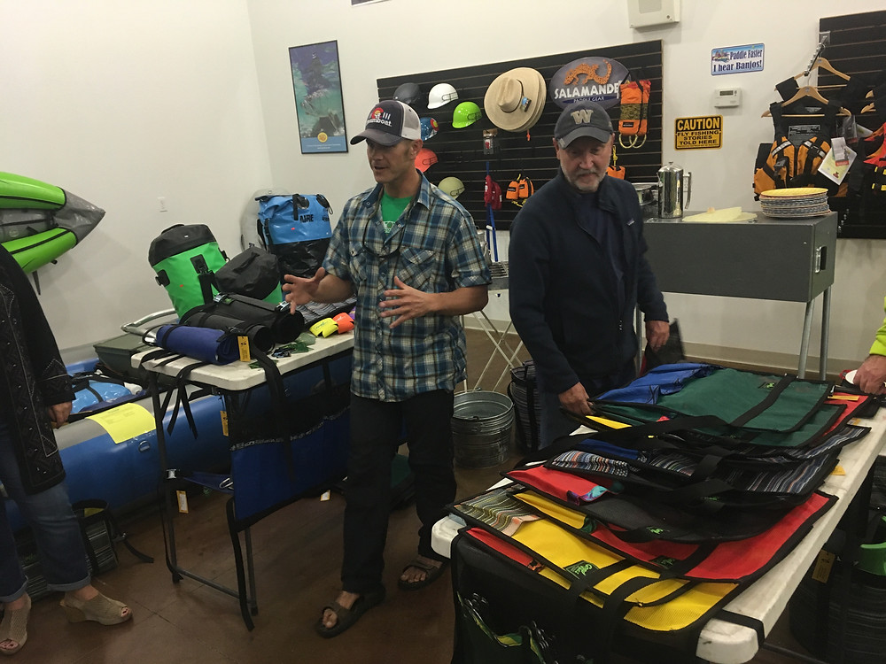 Josh from Good Vibes River Gear and Mark from On The River Supply Chatting it up