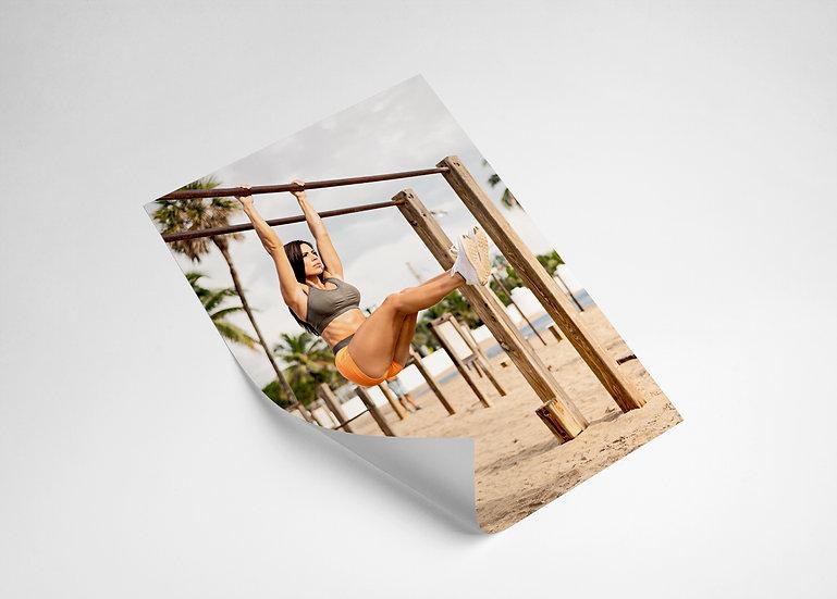 Signed Rachel Joy Poster - Beach Workout