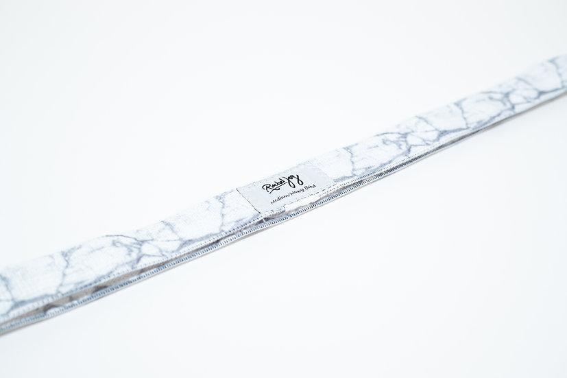 Long Medium/Heavy White Marble Band