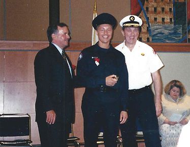 Paul Serwatka at Chicago Fire Dept. Badge Ceremony with Mayor Daley and Commissioner Joyce