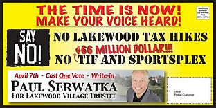 Paul Serwatka Successfully Abolishes $66 MILLION TIF District/Developer Subsidy