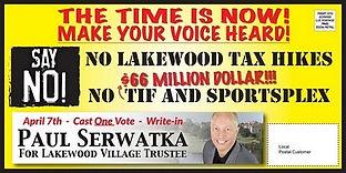 Paul Serwatka Successfully Abolishes $66 MILLION TIF District/Developer Subsidy