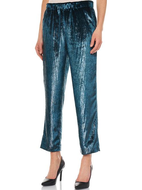 Pantalone in velluto lucido