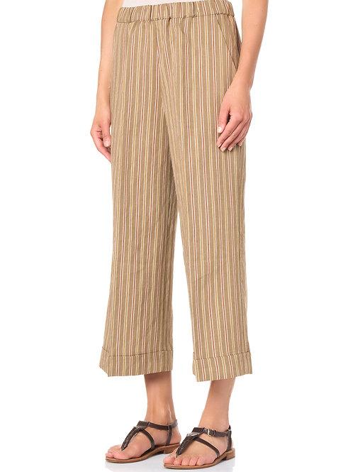 Pantalone a righe in viscosa