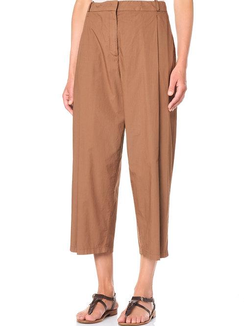 Pantalone in popeline tinto capo