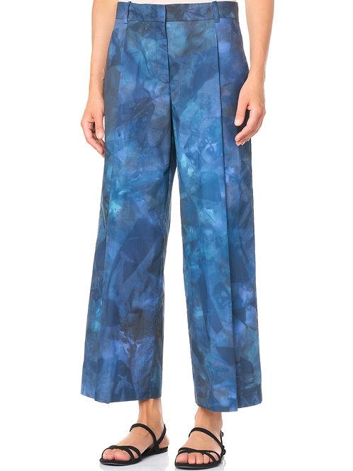 Pantalone in popeline di cotone tie-dye