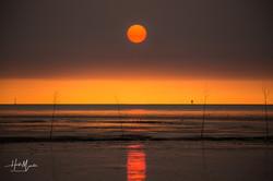 Sonnenuntergang in Dorum