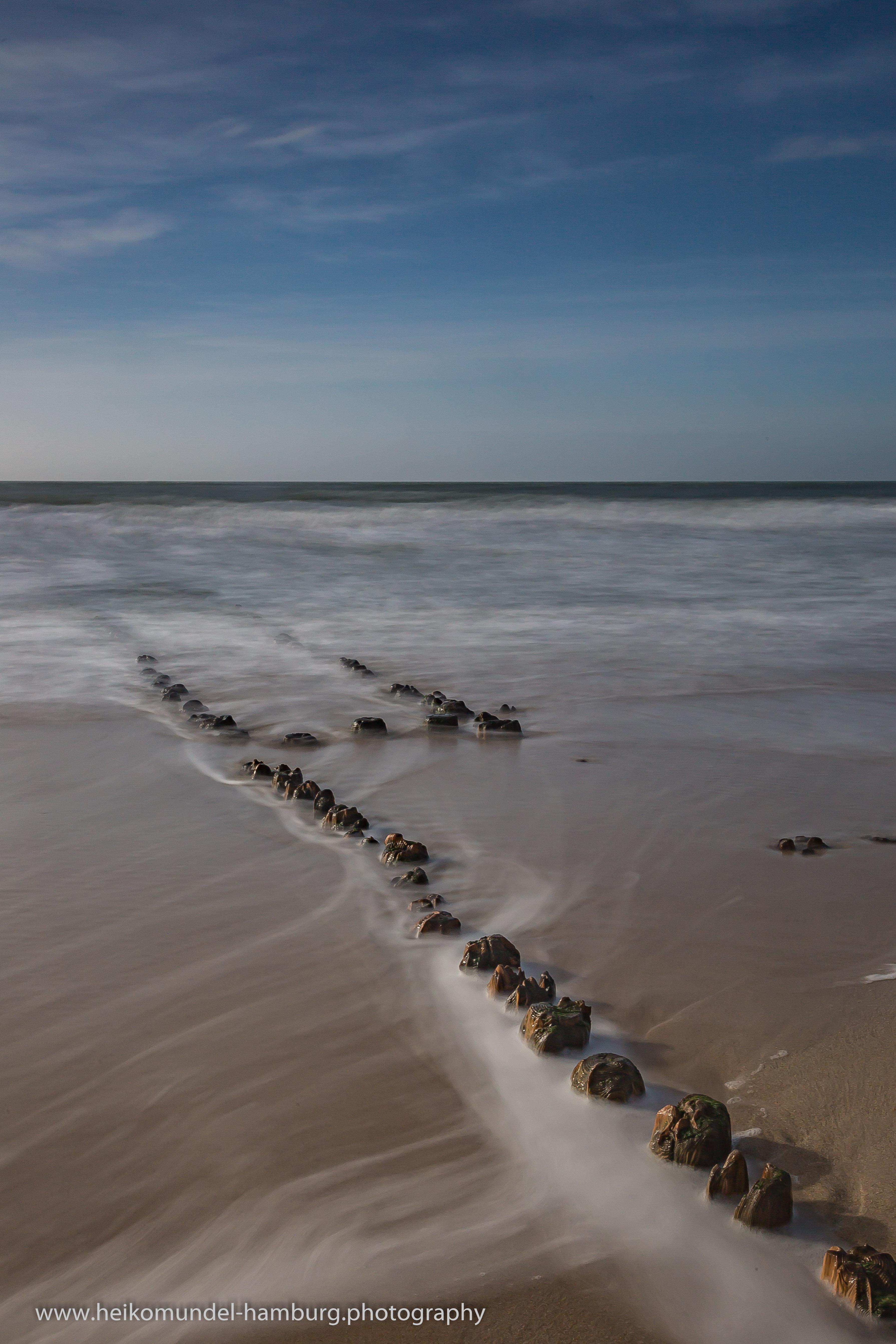 Buhne am Strand