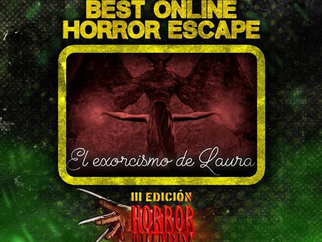 ¡Nominados a Best Online Horror Escape!