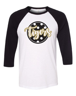 Bella Canvas Raglan with Liquid Gold and