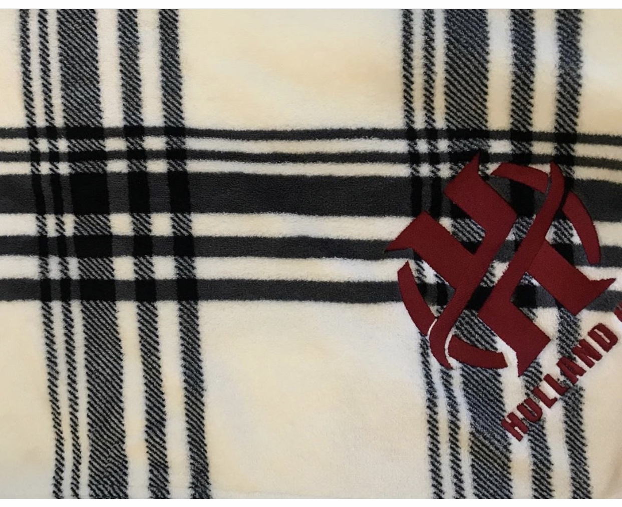 Buffalo Plaid Embroidered Blanket