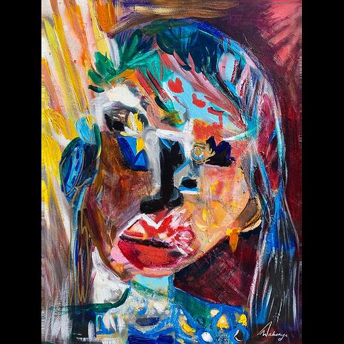 Lady Entropy - Framed (70cm x 86cm)