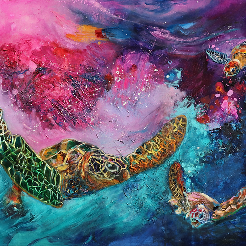 Out In Space (90cm x 72cm)