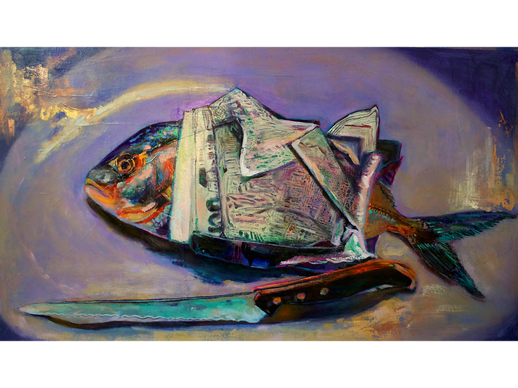 For Fish And Chips (70cm x 40cm)