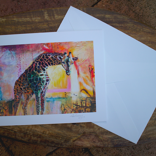 Walking With Confidence - Fine Art Card