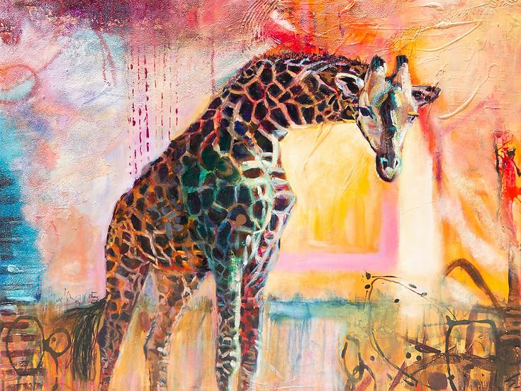 Walking With Confidence - Fine Art Print on canvas (61cm x 46cm)