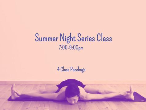 夏夜の4回シリーズクラス