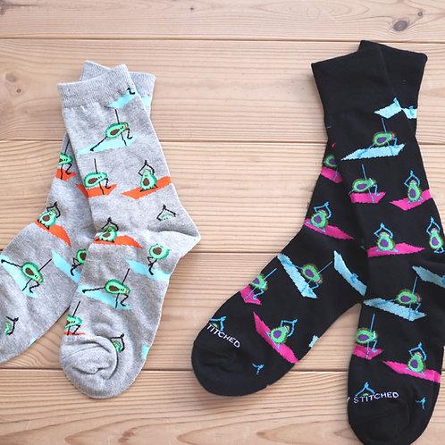 Avocado Yoga Socks