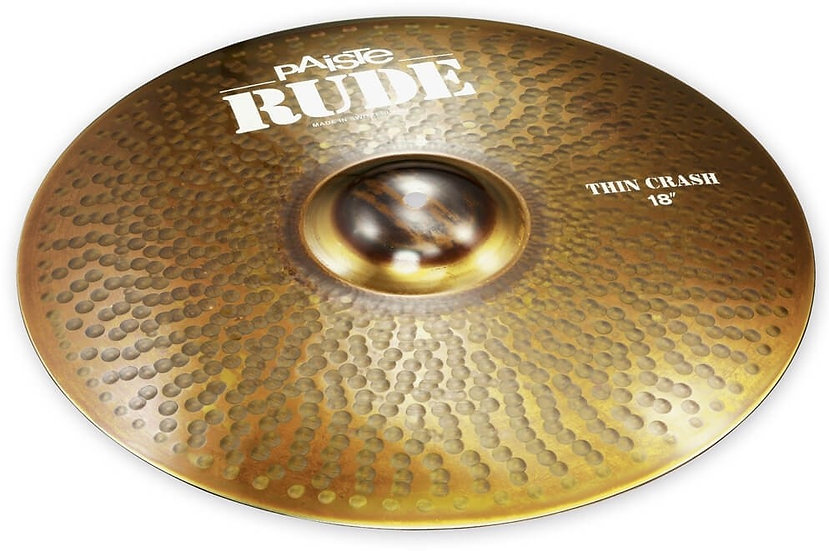 "Paiste 18"" RUDE Thin Crash Cymbal"