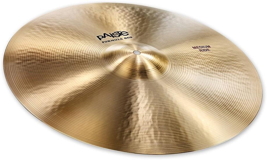 "Paiste 20"" Formula 602 Classic Sounds Medium Ride Cymbal"