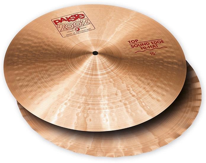 "Paiste 15"" 2002 Sound Edge Hi-Hat Cymbals"