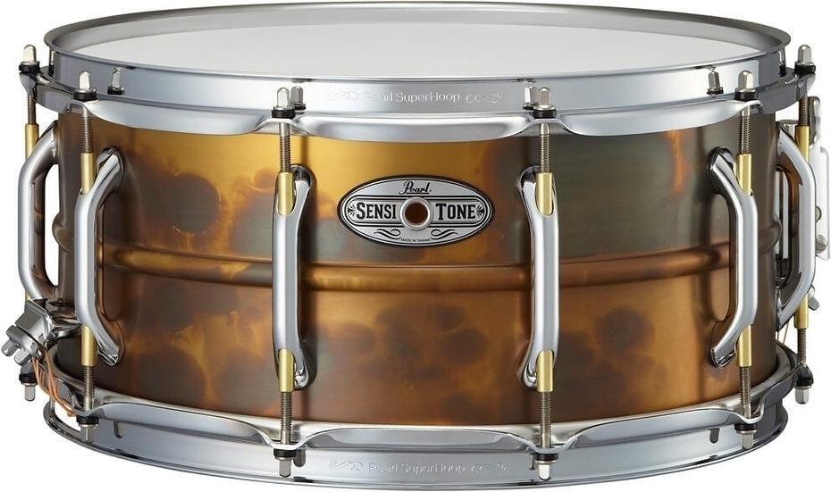 "Pearl 14"" x 6.5"" Sensitone Premium Brass Snare Drum"