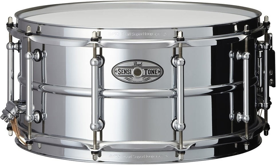 "Pearl 14"" x 6.5"" Sensitone Beaded Steel Snare Drum"