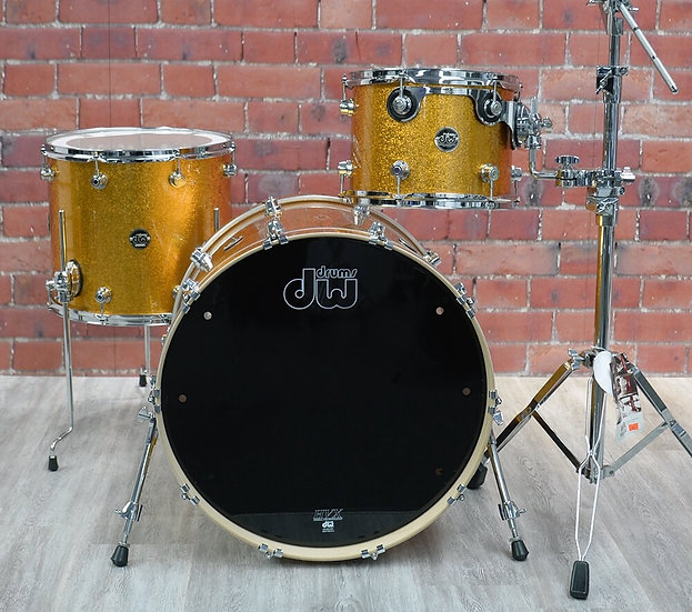 DW DRUMS – Performance Series – Gold Sparkle 3 Piece Shell Pack