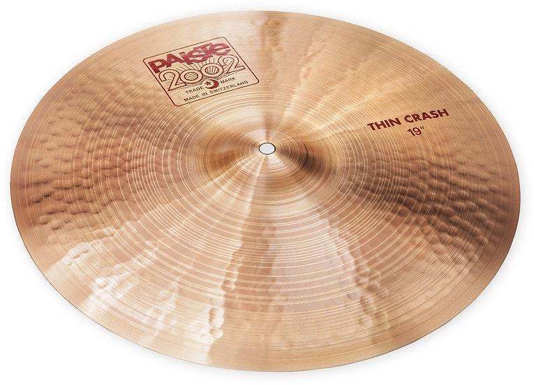 "Paiste 19"" 2002 Thin Crash Cymbal"