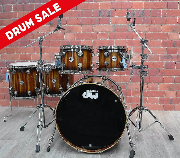 DW DRUMS – Collectors Series Exotic – Pure Cherry 5 Piece Shell Pack