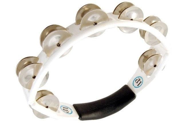 LP LP152 Cyclops Steel Hand Held White Tambourine