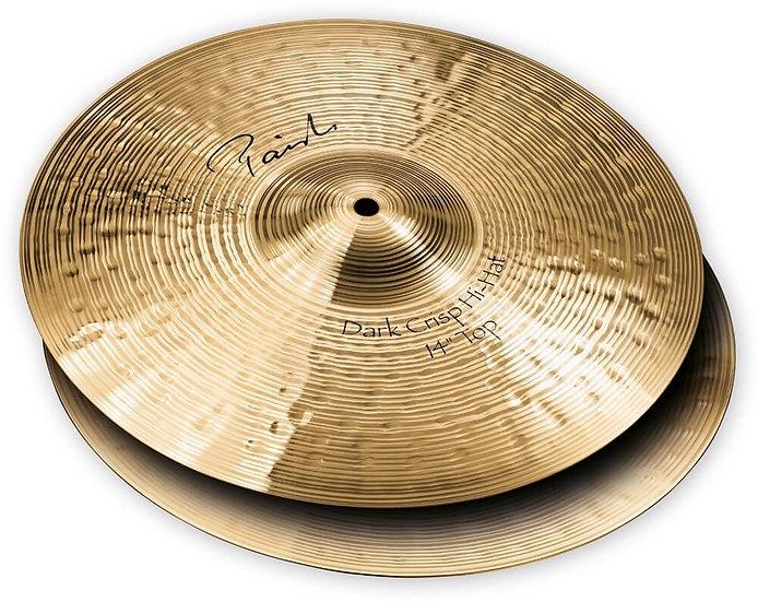 """Paiste 14"""" Signature Dark Crisp Hi-Hat Cymbals"""