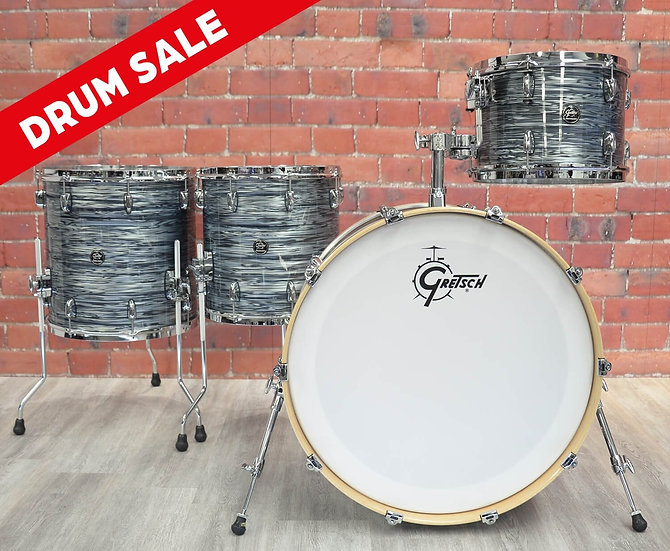 "Gretsch Drums - Renown 24"" 4pc Drum Kit - Silver Oyster Pearl"