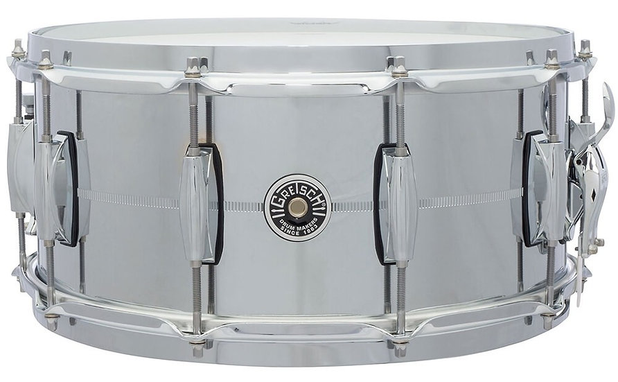 """Gretsch USA Brooklyn 14"""" x 6.5"""" Chrome Over Steel Snare Drum"""
