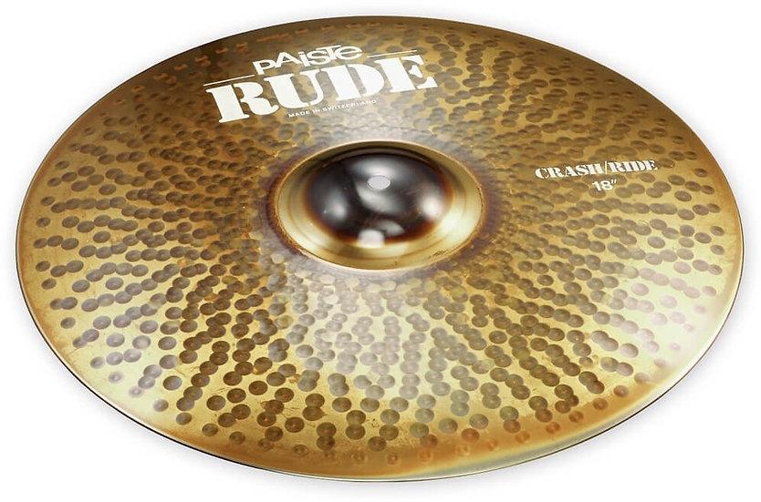 "Paiste 18"" RUDE Crash Ride Cymbal"