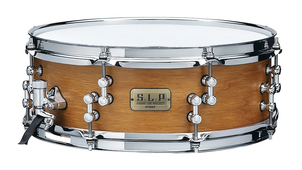"Tama 14"" x 5"" SLP Hickory Snare Drum Satin Vintage Hickory"