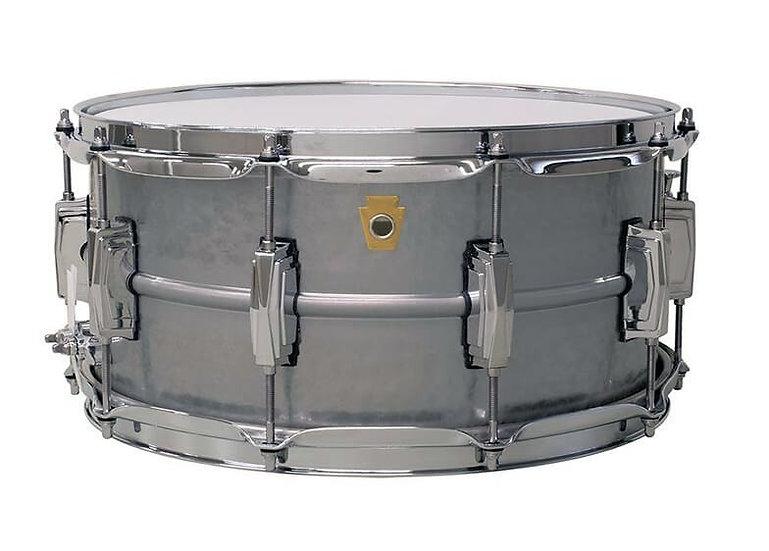 "Ludwig Acrophonic 14"" x 6.5"" Hammered Aluminium Snare Drum"